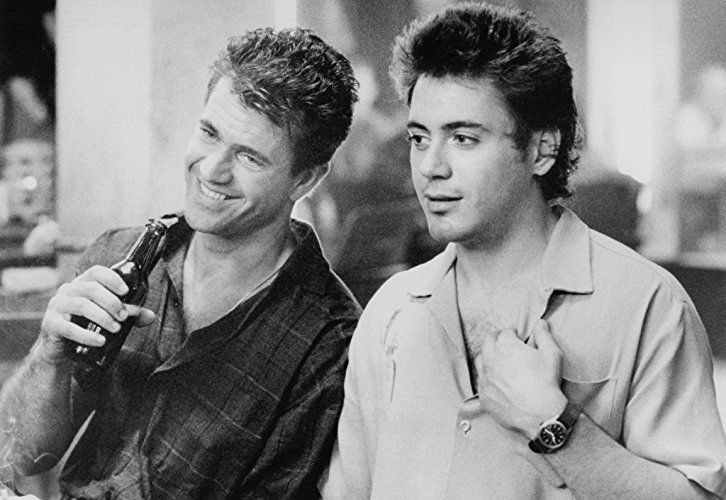 Mel Gibson and Robert Downey Jr. in Air America (1990)