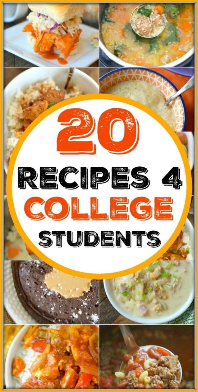 Here's a free printable cookbook for college students with 20 easy recipes to ch
