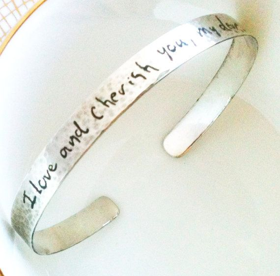Handwriting Cuff Bracelet 1/4 inch wide, Your Writing on silver, custom personalized cuff on Silver, custom Mother's Day gift, gift for her