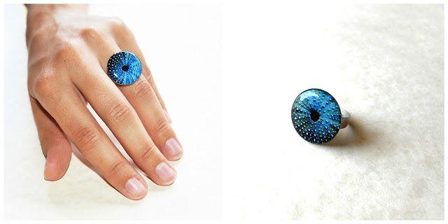 Etsy Greek Street Team: June Giveaway: win a blue sea urchin ring