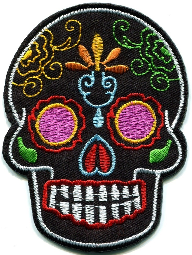 Sugar Skull Patch | wear and tear | Pinterest