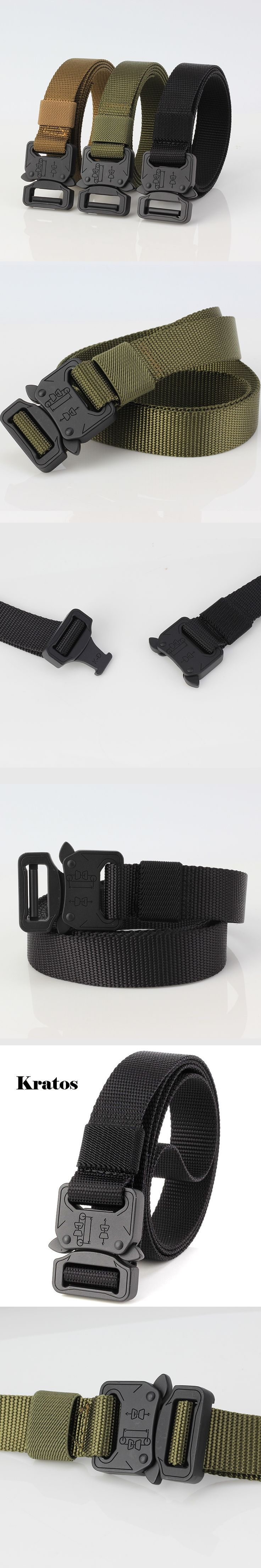 SWAT Combat Military Equipment Tactical Belt Men Nylon Cobra tactical belt  US Army Soldier Carry Waist Belts Metal Buckle 4.5cm