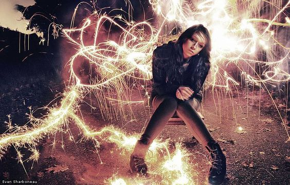 Cool Photo Effects - Sparkler Firework Light Painting Long ...
