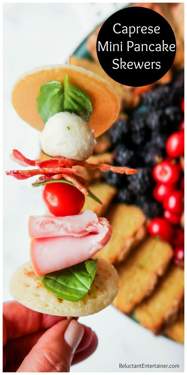Caprese Mini Pancake Spieße #Fingerfood #Pancakeskewer #Capreseskewer – Delicio …   – Make Good Things