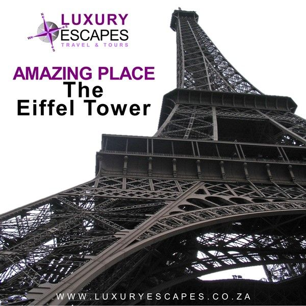 Today AMAZING PLACE: Named after the engineer Gustave Eiffel; whose company designed and built The Eiffel Tower, this wrought iron lattice tower on the Champ de Mars is the icon of Paris, France. Go see it for yourself. www.luxuryescapes.co.za
