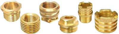 #BrassThreadedInserts  We offer threaded inserts made from brass.  Our range of Brass threaded inserts is accepted worldwide. We also manufacture plastic inserts and wood inserts. Further the round knurled inserts, hexagonal inserts and square inserts are also available. The inserts are available with diamond, straight or unidirectional knurling.