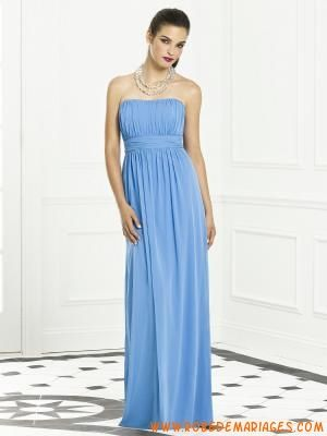 Robe de demoiselle d'honneur en mousseline empire ruban