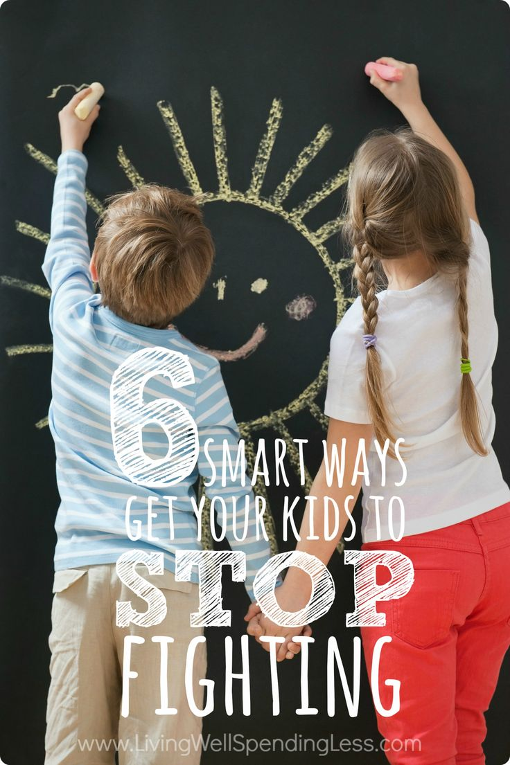 Ever wished your kids would just. stop. fighting? While there is no magic wand for ending sibling rivalry, these six smart tactics can drastically reduce the amount of time your kids spend arguing. #6 literally changed our lives!