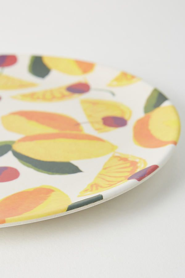 Market Bamboo Melamine Dinner Plate In 2020 Dinner Plates Plates Dinnerware