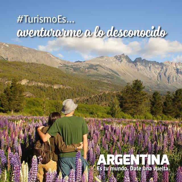 #Turismoes... Aventurarse a lo desconocido!  #DiaMundialDelTurismo #Argentina #WTD2015 #ArgentinaEsTuMundo Date una vuelta!