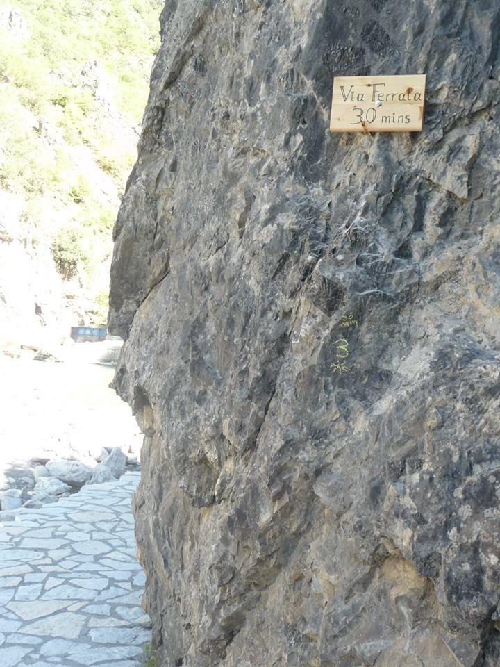 Via Ferrata στον Αώο ποταμό, στην Κόνιτσα.
