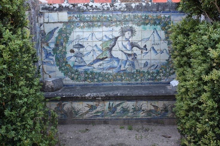 Lisboa | Palácio Fronteira | segunda metade do séc. XVII / second half of the 17th century #Azulejo #AzulejoDoMês #AzulejoOfTheMonth #Água #Water #Lisboa #Lisbon