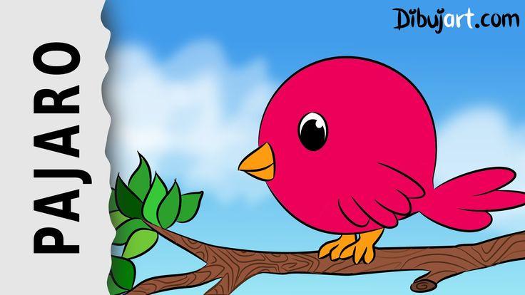 Cómo dibujar un Pájaro tierno — Dibujo animado paso a paso