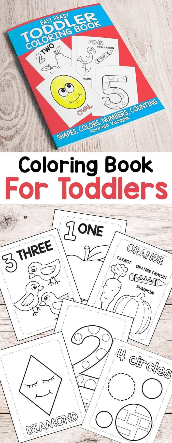 The zoology coloring book - Easy Peasy Toddler Coloring Book