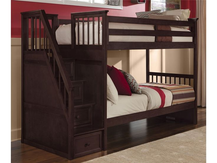 Look At This Cherry Schoolhouse Stair Bunk Bed Frame By NE Kids Part 91