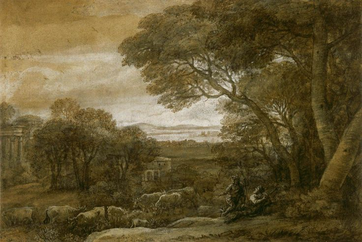 Claude Lorrain (1600-1682) – Landscape with Mercury and Battus, c1662 - Pen and brown ink, 24.5 x 36.5 cm – Department of Prints and Drawings, Louvre, Paris