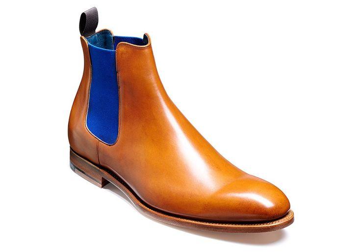Cedar Calf/Navy Elastic   Men's Footwear