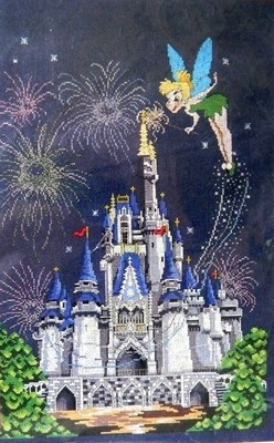 New The Art of Disney Counted Cross Stitch Kit Cinderella Castle Tinkerbell..