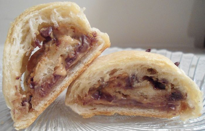 Chocolate And Peanut Butter Filled Crescent Rolls Recipe — Dishmaps
