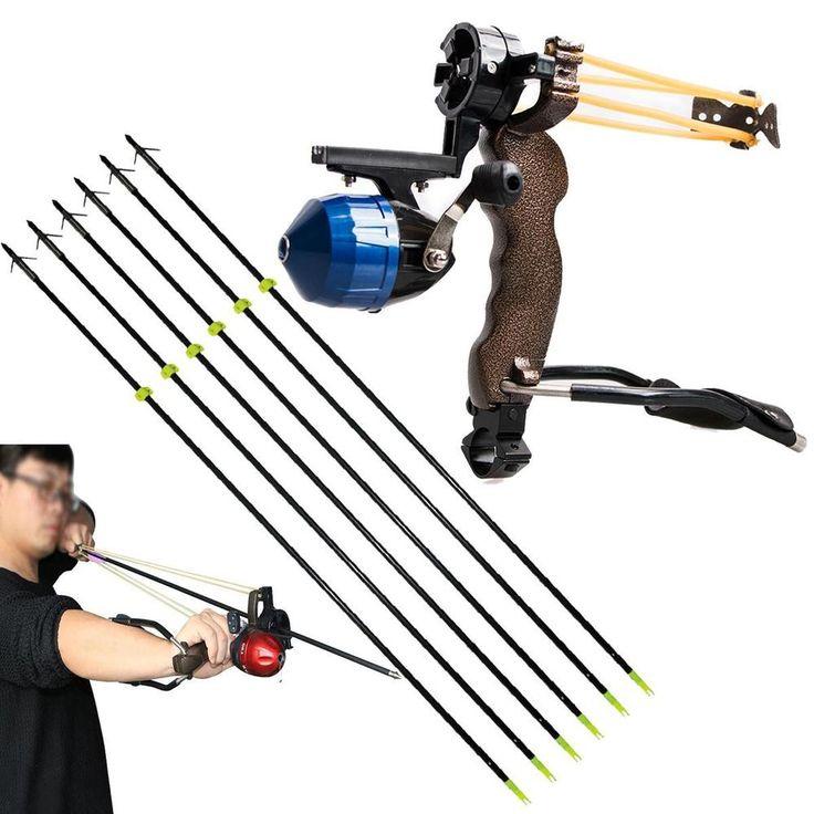 Fishing Slingshot 1 x shooting fish slingshot. Fishing Arrow Material: Aluminum & ABS Plastic Adjustable arrow brush. 1 x arrow brush. Diameter: approx 8mm. 1 x fishing reel. QTY: 1 Set. | eBay!