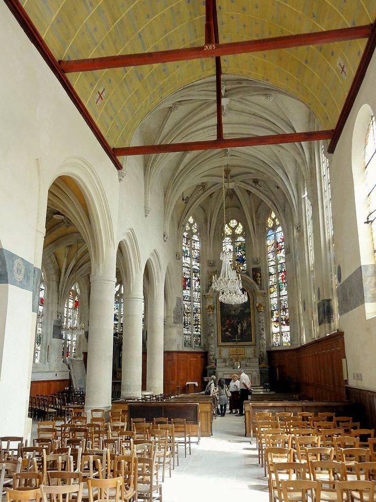 Écouen (95), église Saint-Acceul, nef, vue dans le chœur 2 - Église Saint-Acceul d'Écouen — Wikipédia