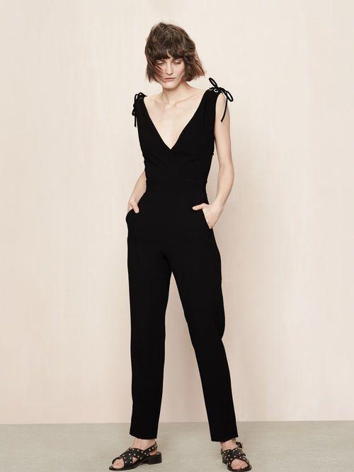 Jumpsuit with laced details - Jeans - Maje.com