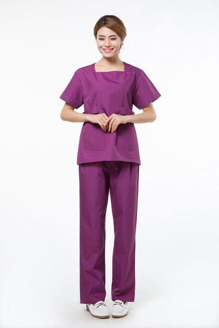 2015 OEM conjuntos de matorrales algodón uniformes médicos de enfermería médica médico conjunto de matorral más mujeres del…