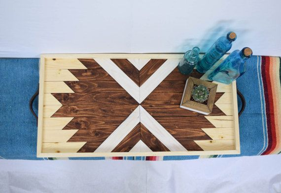 Wood Breakfast Tray with Repurposed by RoamingRootsWoodwork
