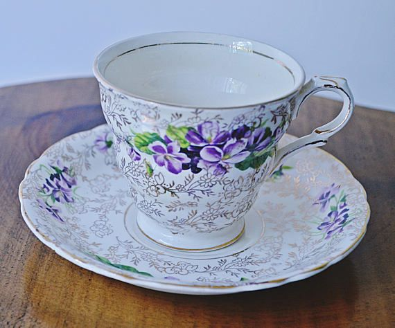 James Kent Ltd Longton Teacup And Saucer Pattern Number 5018