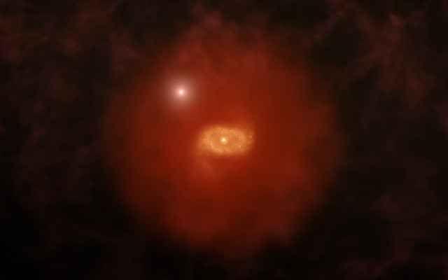 """Il radiotelescopio ALMA è stato usato per studiare due antichissime galassie simili alla Via Lattea In un articolo pubblicato sulla rivista """"Science"""" viene descritta una ricerca su due galassie giovanissime il cui aspetto è probabilmente simile a quello che aveva la Via Lattea 12 miliardi di anni f #alma #galassie"""