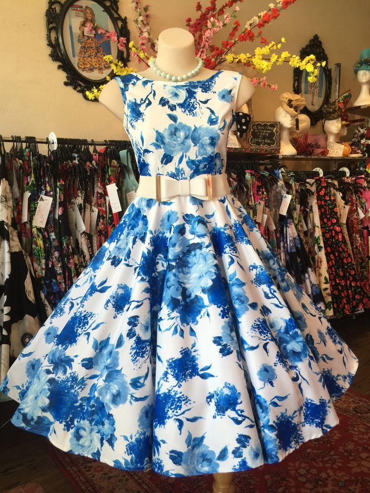 High Tea Blue Roses Classic Cut – GiGi's Fairy Fashion
