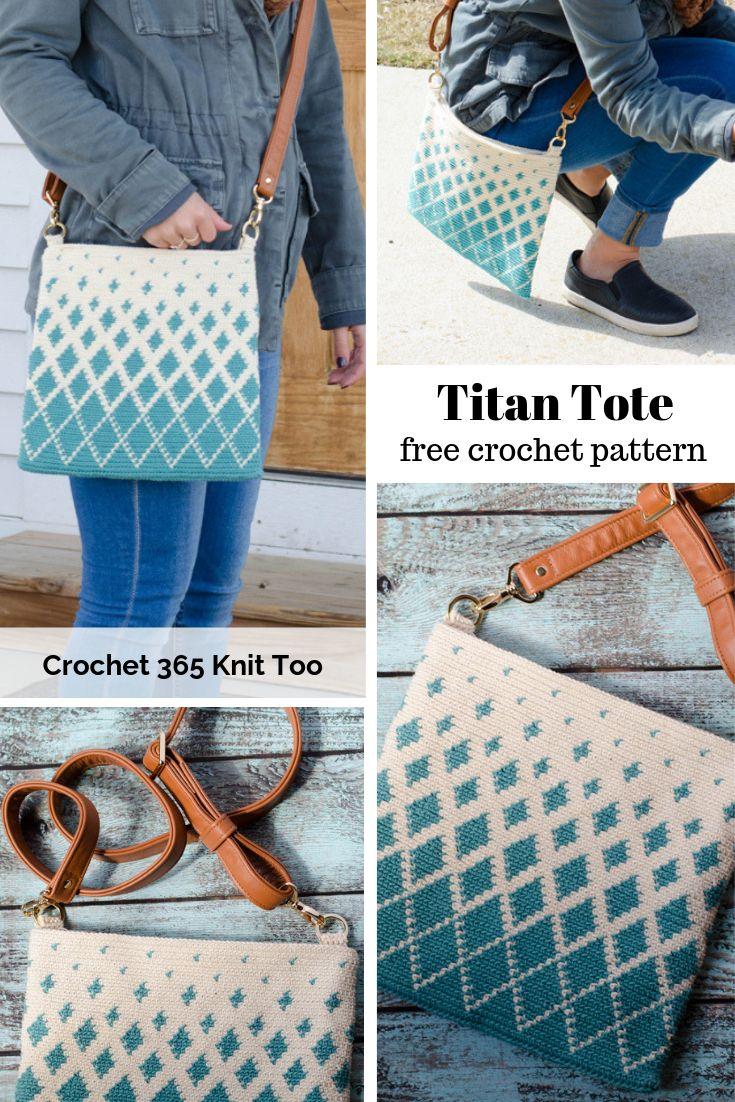 Titan Tapestry Crochet Bag
