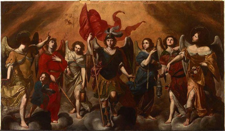 Sono stati invocati già nella chiesa primitiva. Michele (capo), Gabriele e Raffaele sono ricordati dalla Sacra Scrittura, sono umili e fedeli alla volontà di Dio. Tutti sette guidano la lotta con le legioni di angeli [...]