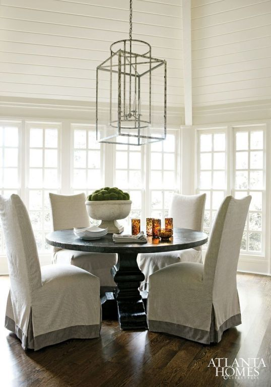 45 Best Images About Slip Covers On Pinterest  Chair Slipcovers Classy Slipcovered Dining Room Chairs Decorating Design