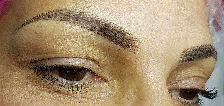 Hairstroke eyebrows permanent makeup by Andrea Toth Training Academy ... which looks deceptively similar to the original... which does not change the character of your face... which has a lifting effect thus making your face more radiant A suitably chosen brow shape with the appropriate colour provides a new mood to the face, without taking away the character of the face. It lends a sense of neatness and beauty to your face. If the arch of your brow is perfect, but the hair is thin and not…