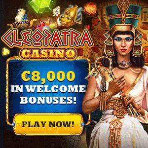 Cleopatra Casino 100% up to €4000 First Deposit Bonus