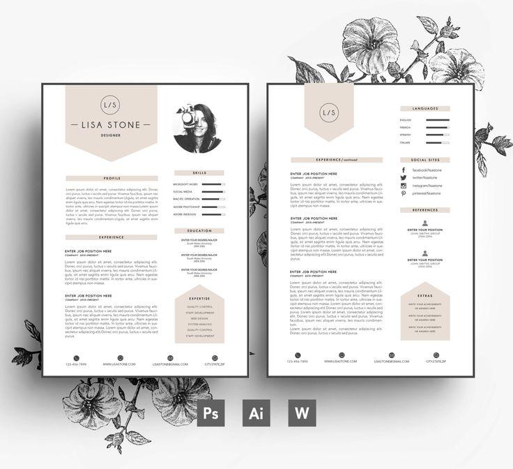 Modernes Template / Business-Auto/CV-Vorlage/Anschreiben/editierbaren PSD/Word-Datei/Fonts enthalten /Instant Digital Download/kreative Lebenslauf