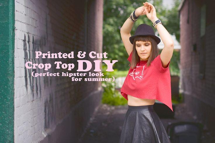 Hand Printed Open Back Crop Top DIY