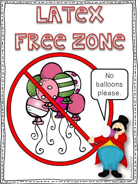 Many Spina Bifidas suffer with latex allergies. I don't but I'm terrified of balloon so maybe I should pretend I am!!