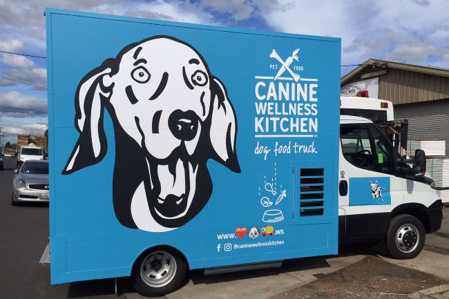 The Dog Food Truck serves tasty meals for your pooch. Photo: Supplied