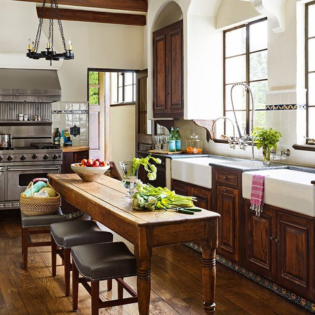 An Antique Table Used As A Kitchen Island Genius