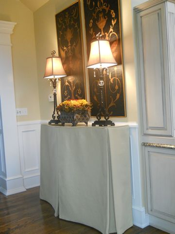 Covered Console Table