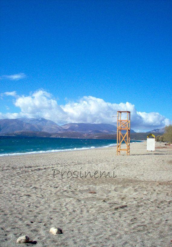 Beach life guard tower photo print greece peloponnese by prosinemi, €10.00