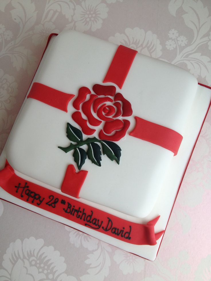 Cake Decorating Ideas Rugby : England rugby cake Cakes Pinterest