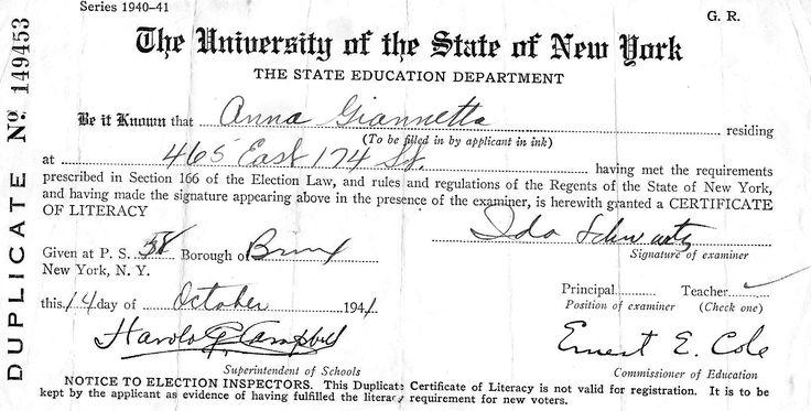 birth certificate great grandma Rose 1862she died at 99 yo - best of certificate of conformity new york