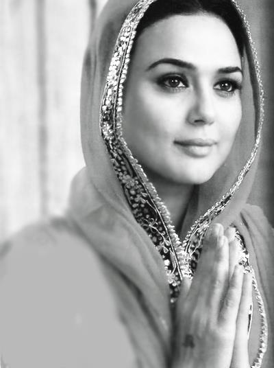 Preity Zinta b. 31 January 1975 Zinta into a family from Rohru in Shimla district, Himachal Pradesh, is an Indian film actress. She has appeared in Hindi films of Bollywood, as well as Telugu, Punjabi and English films. Her father, Durganand Zinta, was an officer in the Indian Army. Bollywood actress beauty Preity Zeinta black & white