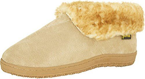 Old Friend Slippers Mens Sheepskin Ankle Bootee 11 EW Chestnut 421207 ** Details can be found by clicking on the image.