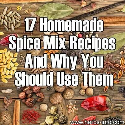 17 spice mix receipes and why you should use them