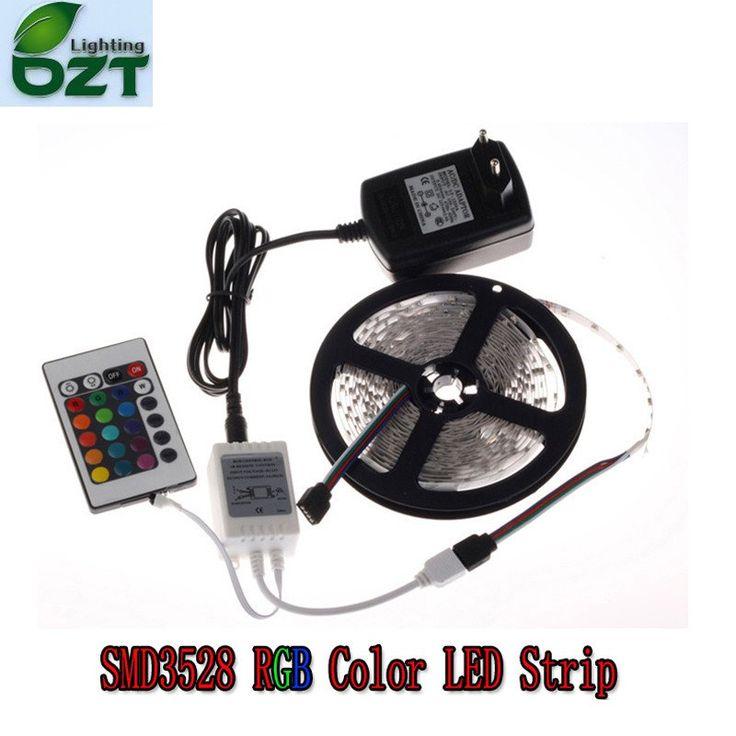 RGB LED Strip 5M 300Led 3528 SMD 24Key IR Remote Controller 12V 2A Power Adapter Flexible Light Led Tape