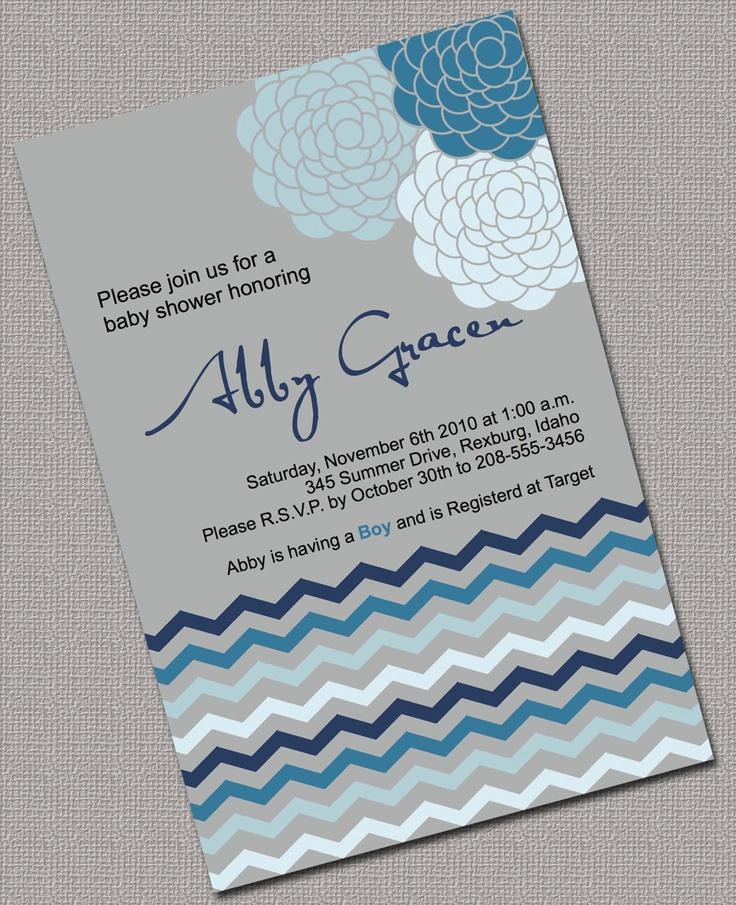 boy baby shower invitations australia%0A Baby Boy Shower Invitations Printable Grey Blue by alittletreasure